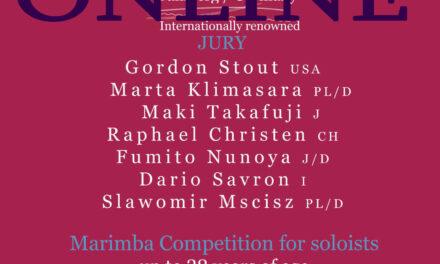 2. Platz für Simeon Popov bei Marimba Festiva Bamberg
